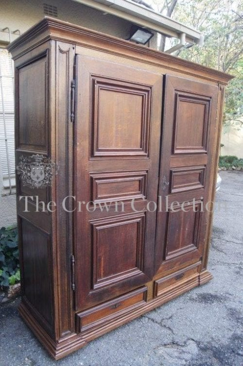 Antique Louis XV French Oak Armoire