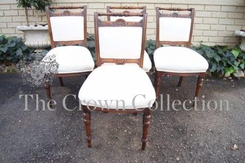 Set of 4 Edwardian Mahogany Chairs