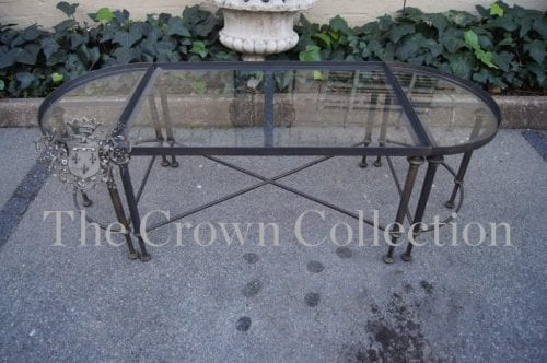 Oval 3 Part Table - Black