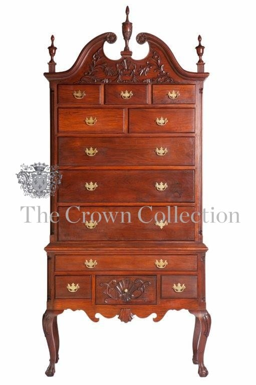 American Mahogany Highboy Chest on Stand
