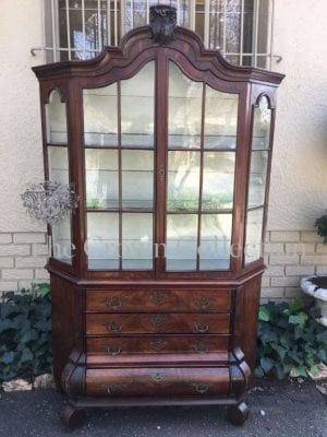 19th Century Dutch Walnut Vitrine