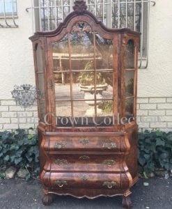 Dutch Walnut Display Cabinet
