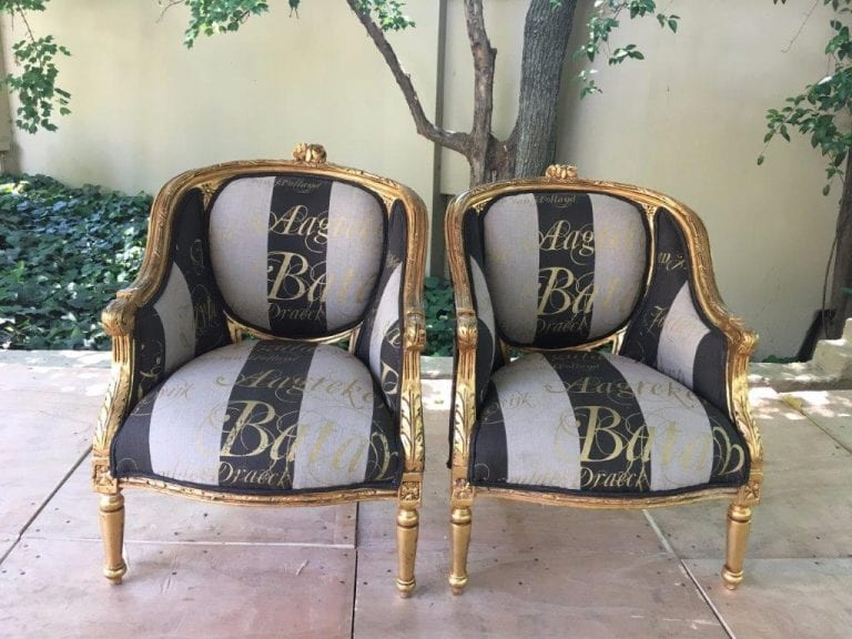 Pair 20th Century French Style Giltwood Armchairs - ND