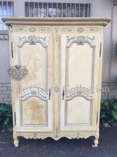 19th Century Painted French Armoire