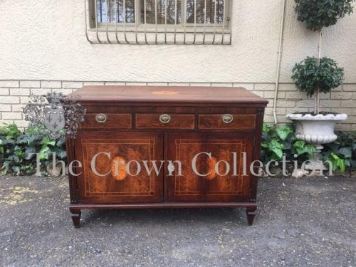 Edwardian Mahogany Sideboard with Shell Inlay