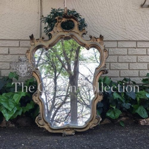 Mid 20th Century Rococo Style Gilt Mirror with Foliate and Scroll Motif