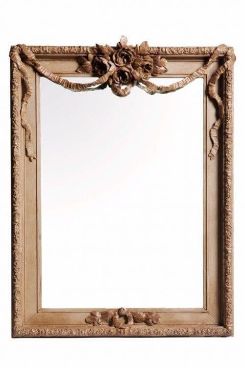 Ornate Carved Rectangular Mirror