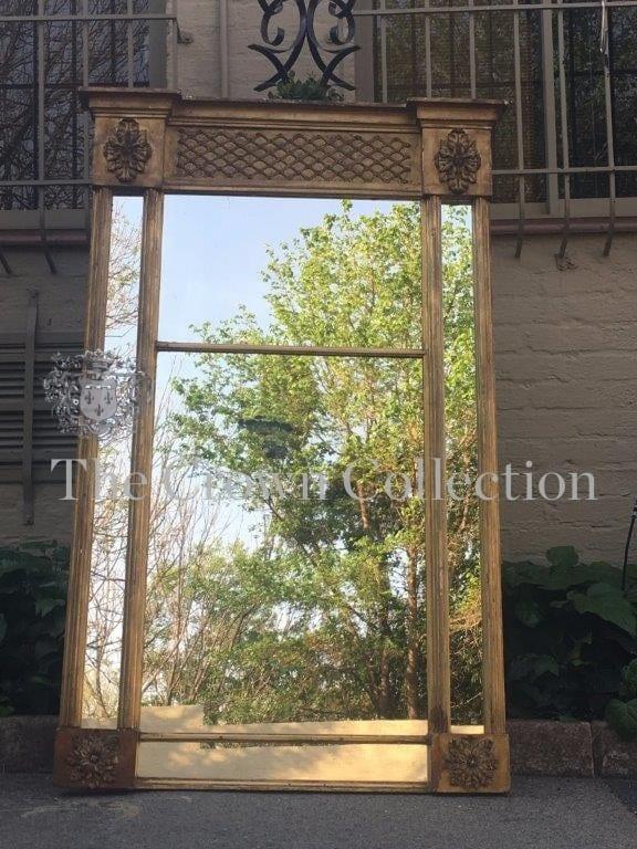 Antique Gilt Framed Pier Glass Mirror