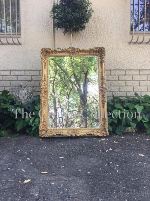 A Large Early Victorian Giltwood Mirror in the Rococo Taste