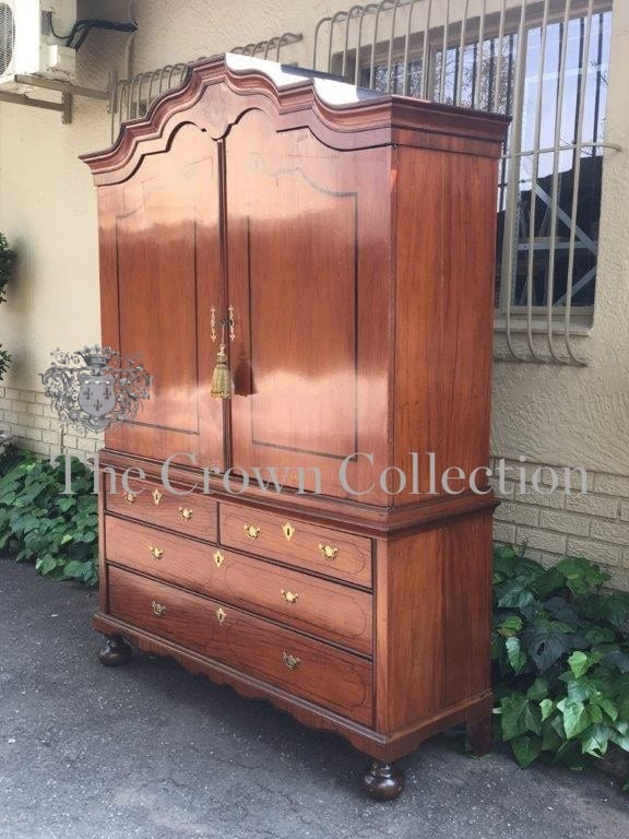 circa 1770 - NDFine & Rare 18th Century Dutch Colonial Batavian Rosewood & Ebony Inlaid Armoire