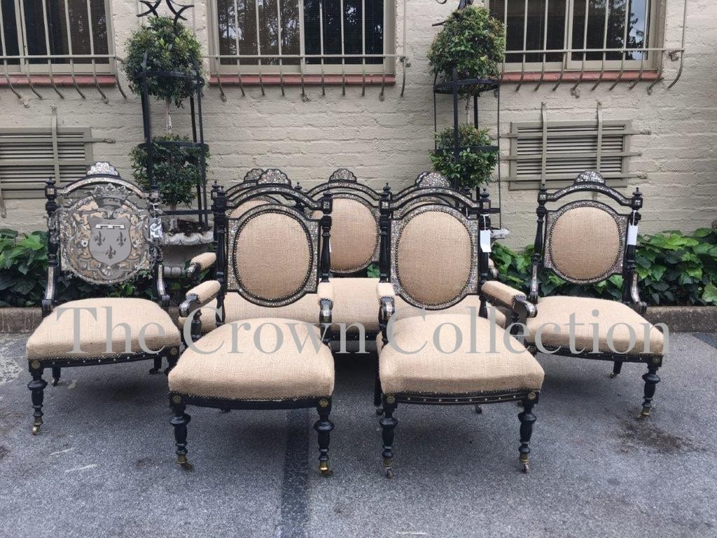 2 Armchairs & 2 Side Chairs (5 Pieces)