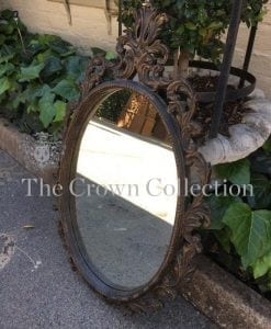 Victorian Ornately Carved Gesso Wood Mirror