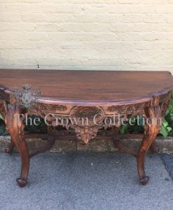 Ornately Carved Wooden Console Table