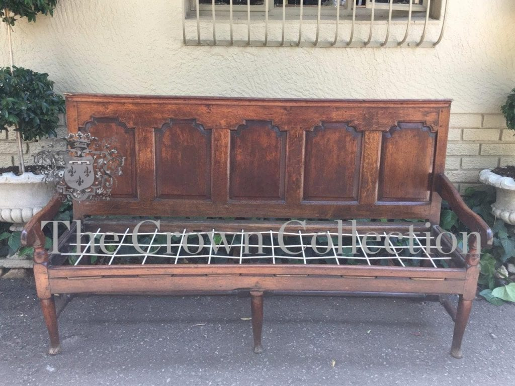 18th Century European Oak Settee Bench