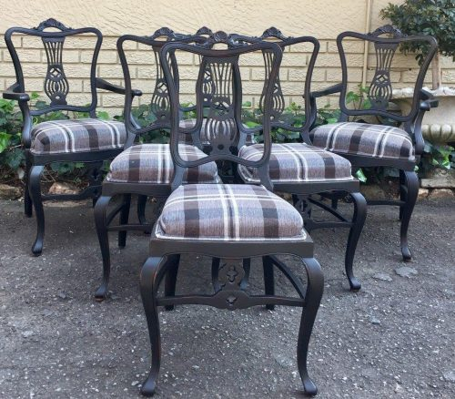 Set of 6 Antique W. Whitley London Dining Chairs
