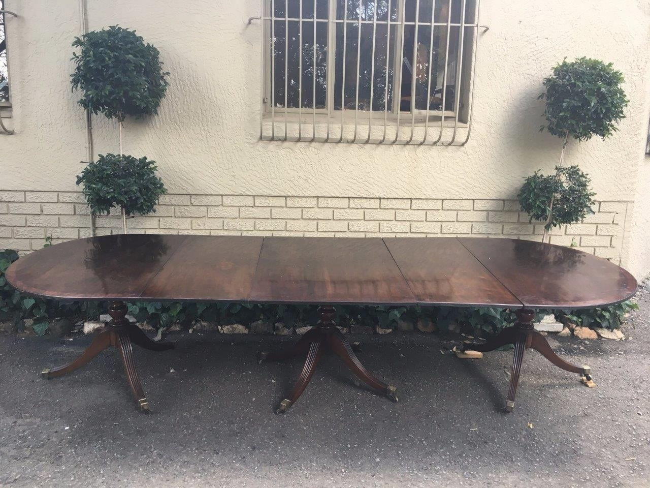 Late 19th Century Regency Style Mahogany Extension Table