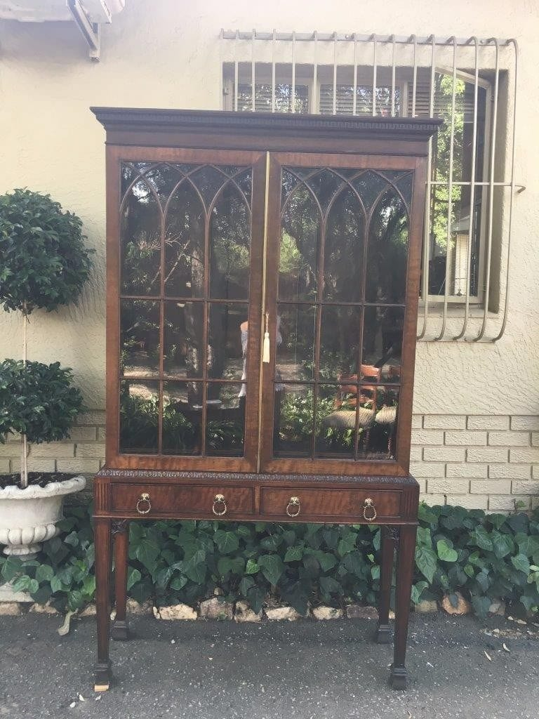19th Century Mahogany Display Library Bookcase with Astral Glazed Doors