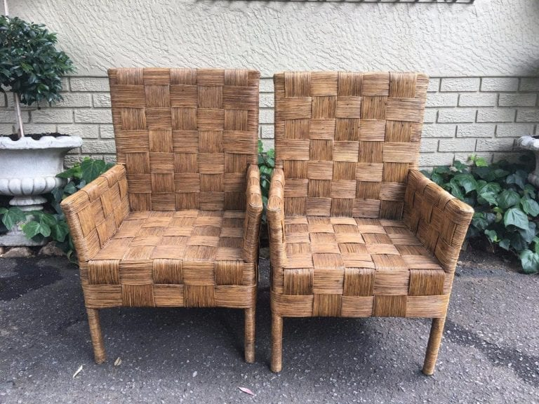 Pair Rattan Chairs - ND