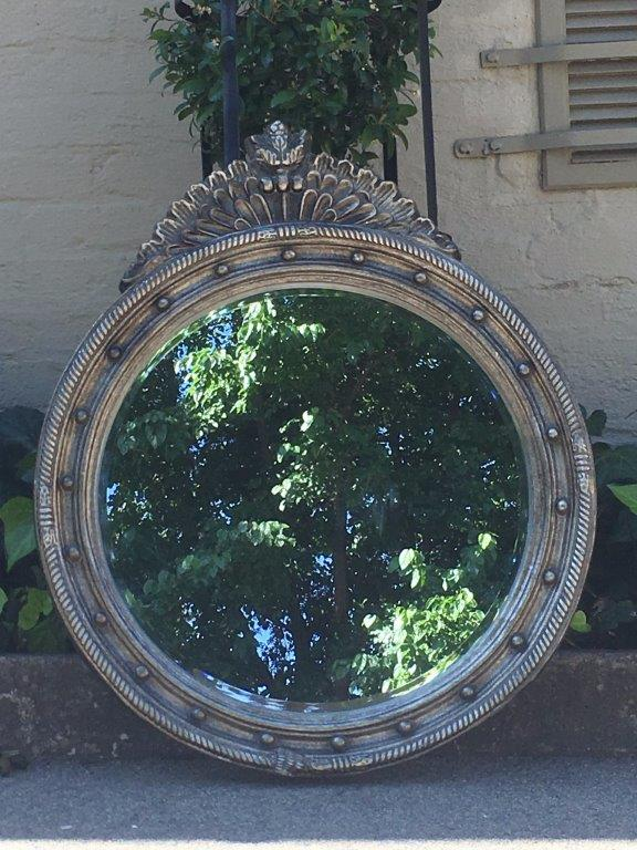 Silver Framed Circular Mirror - ND