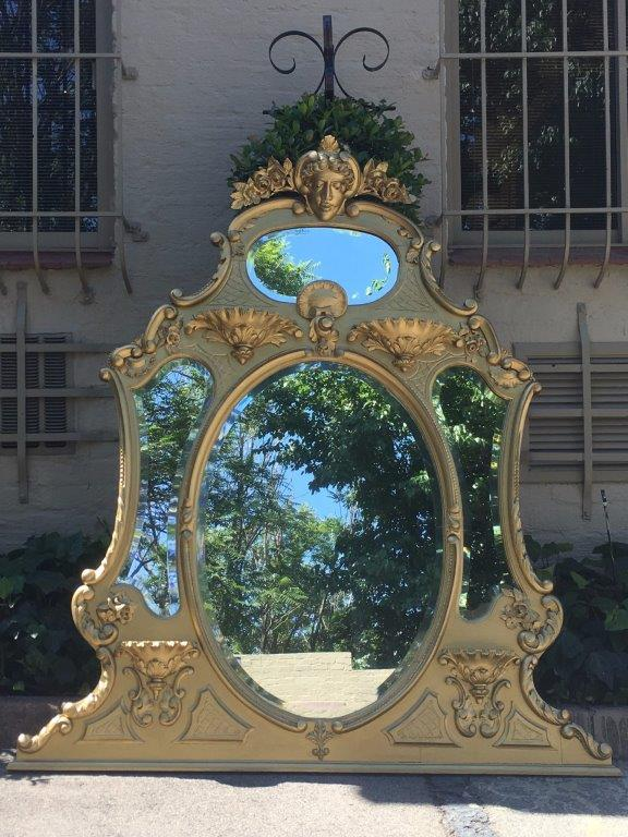 Gilt Over mantel  Mirror - ND