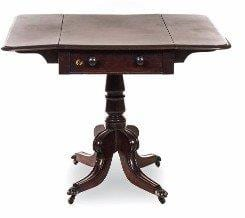Regency Mahogany Pembroke Table - ND