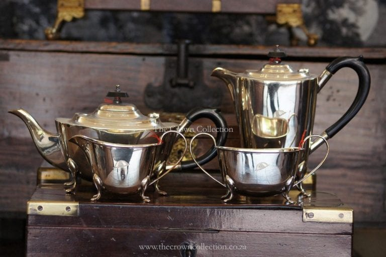4 Piece Silver Plated Art Deco Tea Service