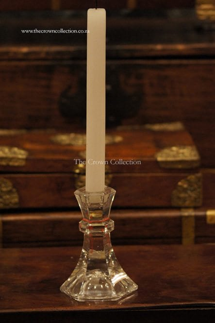Cut Glass Candle Holder