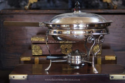 Vintage Ep Pan With Lid On Base With Burner
