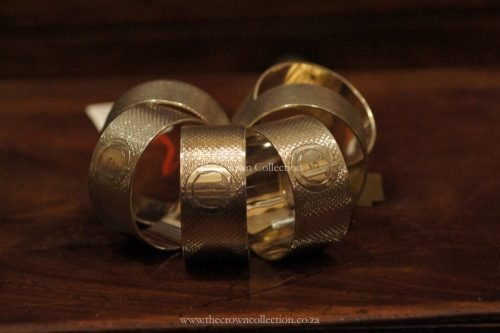 Set Of 6 Numbered Serviette Rings