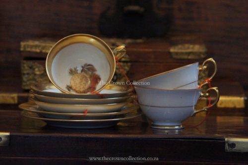 Set Of 8 Westminister Gilt Set (3 Cups