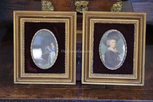 Pair Antique (Circa 1800) Victorian Framed Print