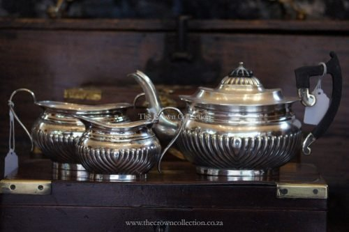 Set Of 3 Edwardian Silver Plated Tea Set