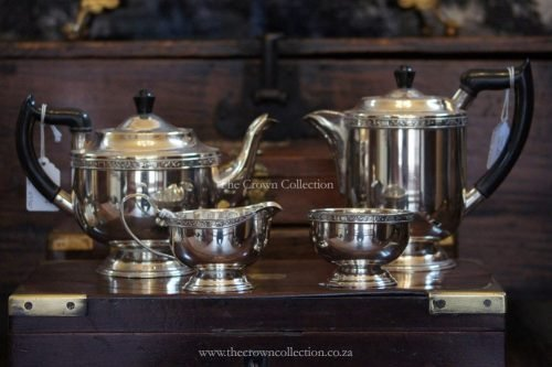 Set Of 4 Silver Plated Tea Set