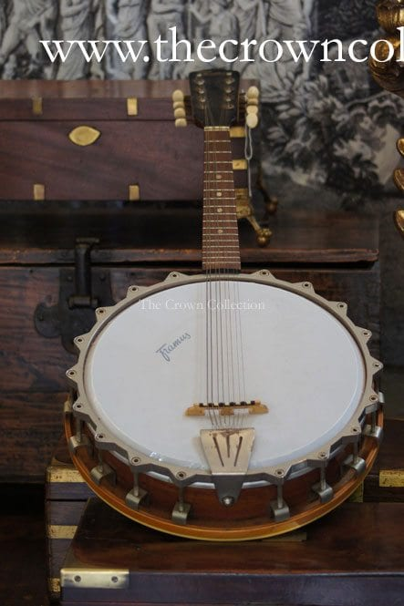Vintage Framus Tenor 8 String Banjo in Perspex Box