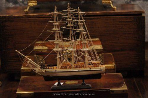 Vintage Handmade Wooden Ship