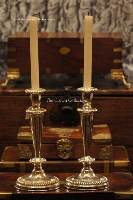 Pair Vintage Silver Plated Candlesticks