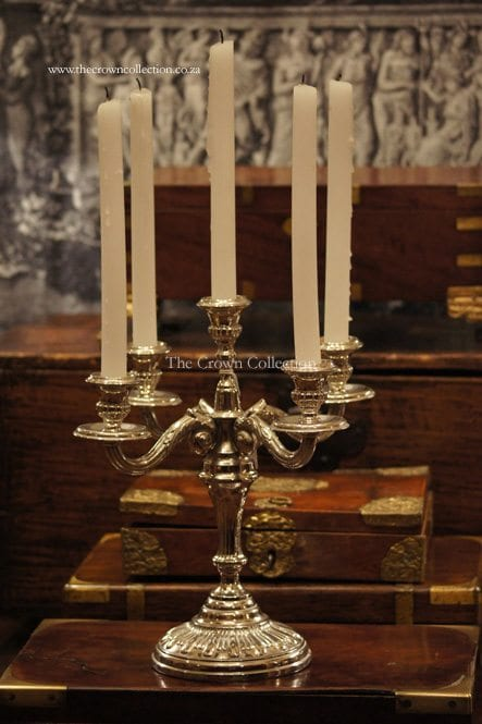 5 Arm Silver Plated Candelabra