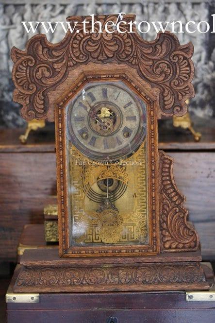 Antique Ingraham'S Gingerbread Mantle Clock (Decorative
