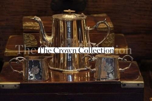 Antique Silver Plated 3 Piece Tea Set Circa 1880-1990