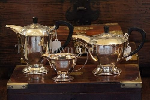 Set Of 3 Silver Plated Tea/Coffee Service