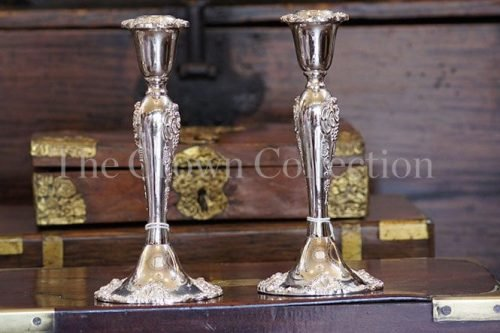 Set of 4 Silver Plated Godinger Candlesticks