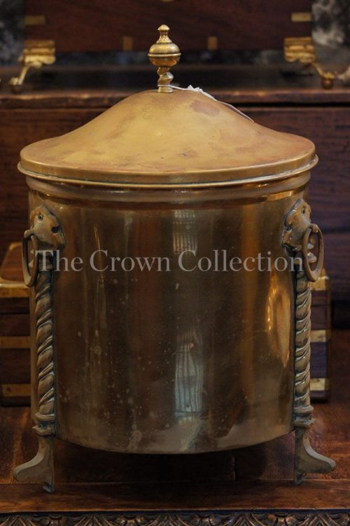 Antique/Vintage Brass Coal Scuttle