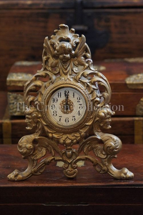 Antique Westclox Nouveau Gilt Clock