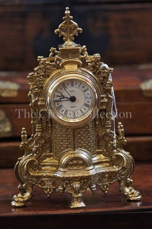 Italian Brass Shelf Clock