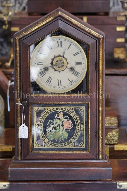Antique New Haven Tuscan Mantle Clock