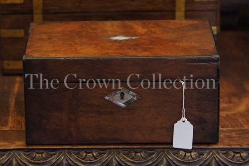 Antique Victorian Walnut Writing Slope/Box