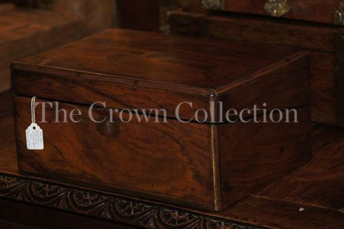 Antique Victorian Rosewood Writing Slop/Box