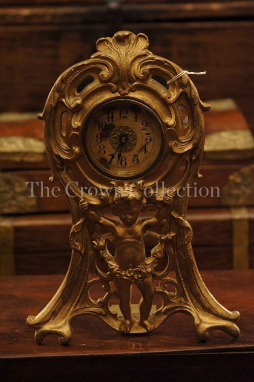 Antique Westclox Art Noveau Gilt Cherub Clock