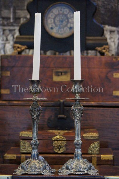 Pair Godinger Silver Plated Candlesticks