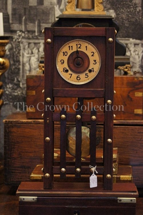 Vintage Large Wooden Mantle Clock